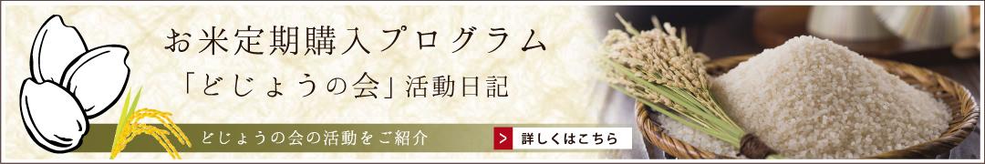 お米定期購入プログラムどじょうの会活動日記